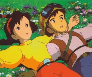 anime, Castle in the Sky, and laputa image