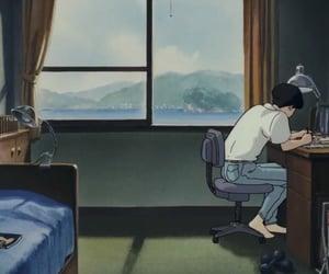 anime, studio ghibli, and ocean waves image