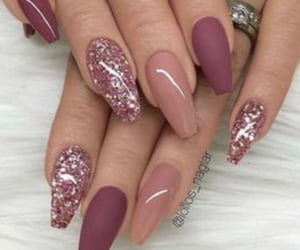 nails, glitter, and girls image