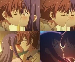 anime, anime cute couple, and kiss image