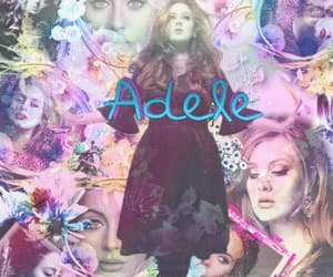 Adele, white, and yellow image