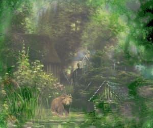 bear, gif, and grass image