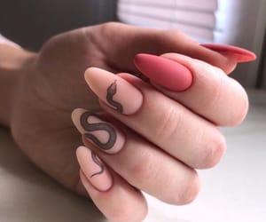 eye, nails, and fashion image