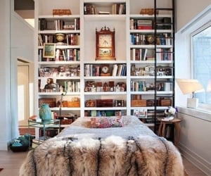 book, bedroom, and bed image