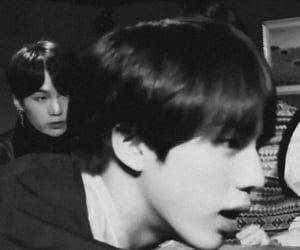 black&white, bts, and kim seokjin image