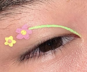 aesthetic, flower, and makeup image