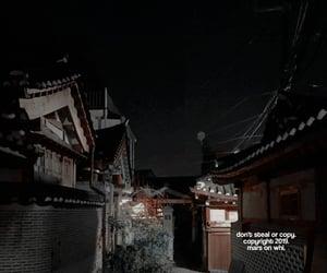 dark, psd, and dark street image