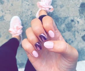 nails, pink, and school image