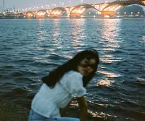 blue, bridge, and girl image