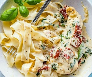 Chicken, food, and pasta image