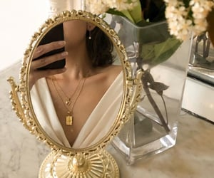 mirror, accessories, and gold image