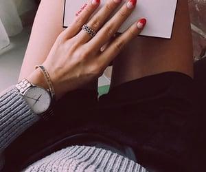 bracelet, chic, and nailpolish image