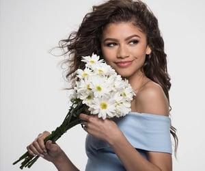 zendaya, flowers, and model image