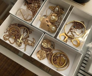 gold, accessories, and style image