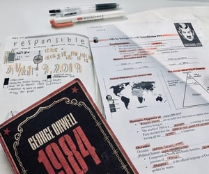 1984, George Orwell, and study image