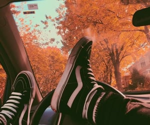 vans, autumn, and fall image
