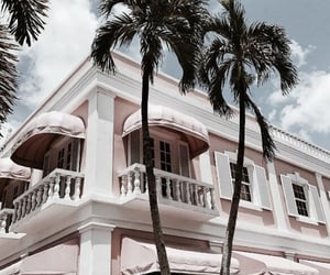 summer, architecture, and pink image