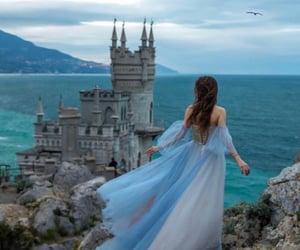 castle, dress, and princess image