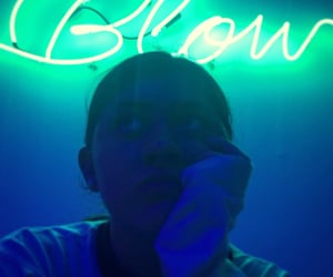 aesthetic, blow, and neon image