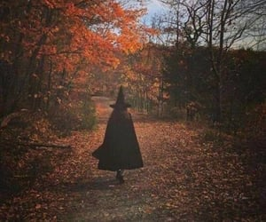 autumn, witch, and fall image