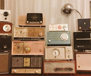 vintage, radio, and music image