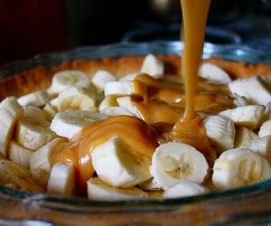 banana, food, and caramel image