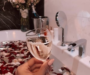 beauty, roses, and champagne image