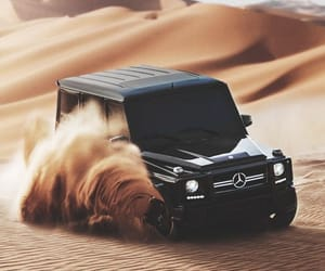 car, desert, and mercedes image