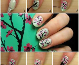 nails, flowers, and arizona image
