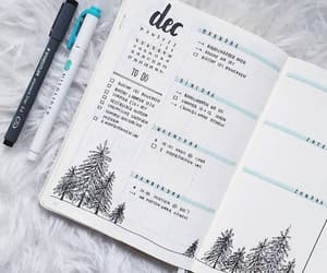 bullet journal, journal, and december image