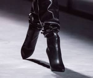black boots, boots, and haute couture image