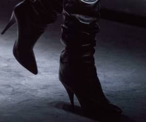 black boots, haute couture, and YSL image