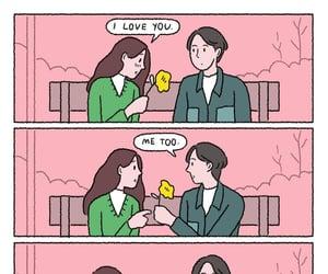 comic, love me, and love you image