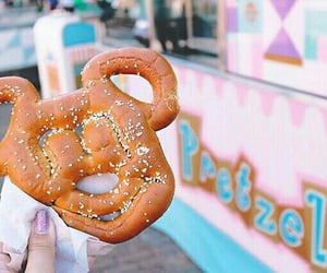 pretzel, disney, and food image