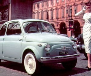 car, vintage, and fiat 500 image