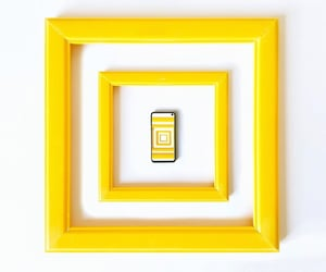 cellphone, samsung, and yellow image