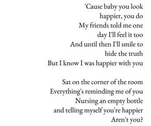happier, Lyrics, and ed sheeran image