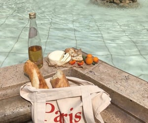 paris, bread, and aesthetic image