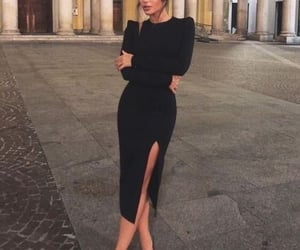 black dress, fall, and italy image