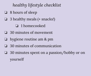 checklist, diet, and exercise image