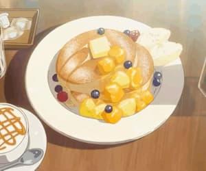 gif, food anime, and wafles image