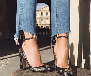 black heels, fashion, and shoes image