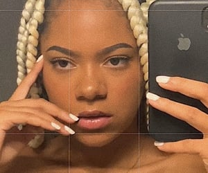 braids, femme, and bad bitch image