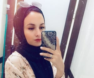 arab, girls, and hijab fashion image
