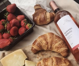 croissant, food, and strawberry image