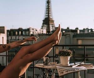 balcony, breakfast, and sun image
