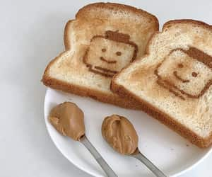 breakfast, peanut butter, and lego image
