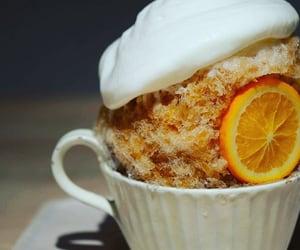 cream, orange, and shaved ice image