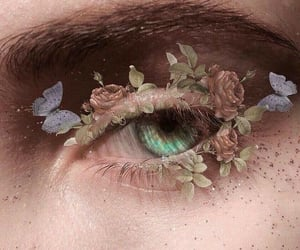 flowers, eyes, and aesthetic image