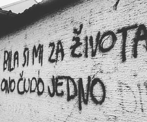 black and white, grafiti, and quotes image
